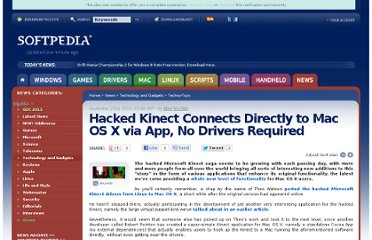 http://news.softpedia.com/news/Hacked-Kinect-Connects-Directly-to-Mac-OS-X-via-App-No-Drivers-Required-168277.shtml