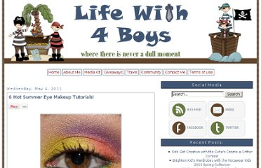 http://www.lifewith4boys.com/2011/05/6-hot-summer-eye-makeup-tutorials.html