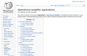 http://en.wikipedia.org/wiki/Operational_amplifier_applications