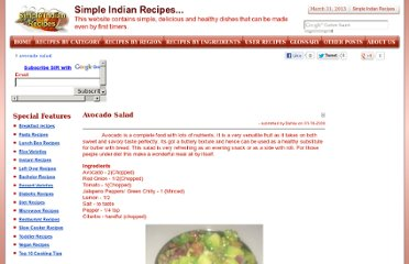 http://simpleindianrecipes.com/avocadosalad.aspx