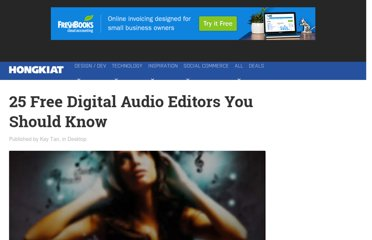 http://www.hongkiat.com/blog/25-free-digital-audio-editors/