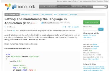 http://www.yiiframework.com/wiki/26/setting-and-maintaining-the-language-in-application-i18n
