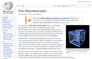 http://en.wikipedia.org/wiki/Four-dimensional_space