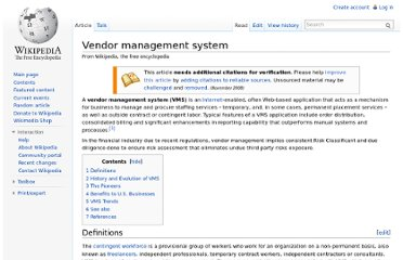 http://en.wikipedia.org/wiki/Vendor_management_system