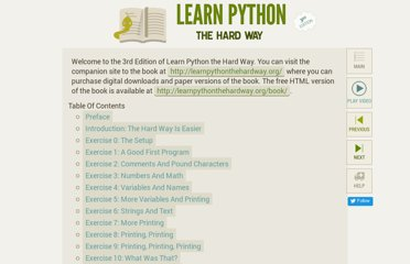http://learnpythonthehardway.org/book/index.html