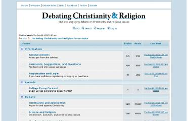 http://debatingchristianity.com/forum/index.php