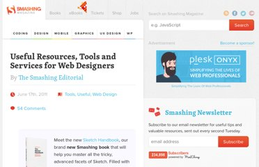 http://www.smashingmagazine.com/2011/06/17/useful-resources-tools-and-services-for-web-designers/