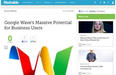 http://mashable.com/2009/12/18/google-wave-business/