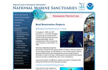 http://sanctuaries.noaa.gov/protect/restoration/welcome.html