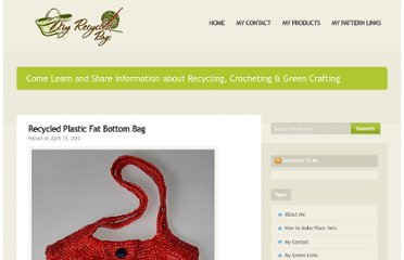 http://www.myrecycledbags.com/2010/04/15/recycled-plastic-fat-bottom-bag/