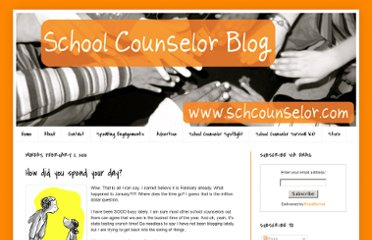 http://www.schcounselor.com/2010/02/how-did-you-spend-your-day.html