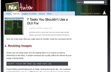 http://www.nixtutor.com/linux/7-tasks-you-shouldnt-use-a-gui-for/