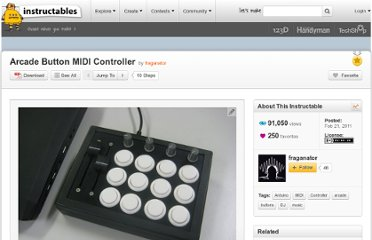 http://www.instructables.com/id/Arcade-Button-MIDI-Controller/