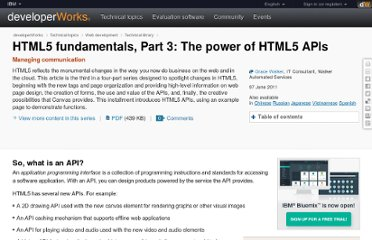 http://www.ibm.com/developerworks/web/library/wa-html5fundamentals3/index.html