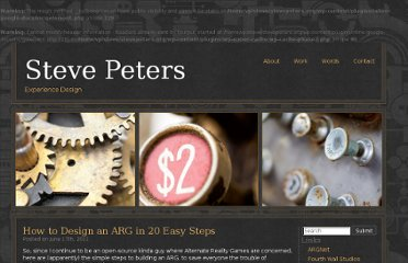 http://www.stevepeters.org/2011/06/17/how-to-design-an-arg-in-20-easy-steps/