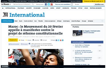 http://www.lemonde.fr/international/article/2011/06/18/maroc-le-mouvement-du-20-fevrier-appelle-a-manifester-contre-le-projet-de-reforme-constitutionnelle_1537957_3210.html#xtor=RSS-3208001?utm_source=twitterfeed&utm_medium=twitter