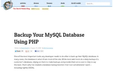 http://davidwalsh.name/backup-mysql-database-php