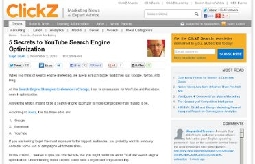 http://www.clickz.com/clickz/column/1811575/secrets-youtube-search-engine-optimization