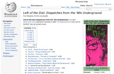 http://en.wikipedia.org/wiki/Left_of_the_Dial:_Dispatches_from_the_%2780s_Underground