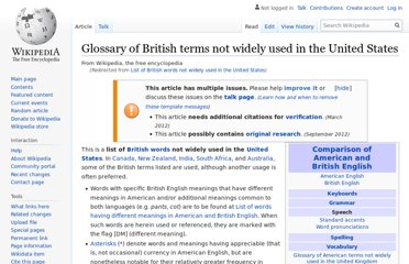 http://en.wikipedia.org/wiki/List_of_British_words_not_widely_used_in_the_United_States