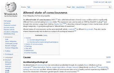http://en.wikipedia.org/wiki/Altered_state_of_consciousness
