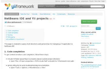 http://www.yiiframework.com/wiki/83/netbeans-ide-and-yii-projects/