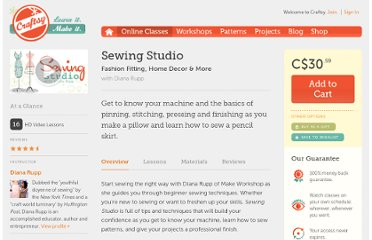 http://www.craftsy.com/class/Sewing-Studio-Fashion-Fitting-Home-Decor-More/19