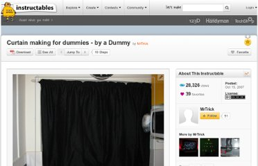 http://www.instructables.com/id/Curtain-making-for-dummies---by-a-Dummy/