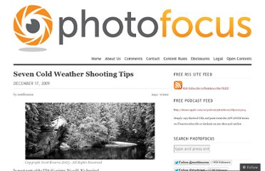 http://photofocus.com/2009/12/17/seven-cold-weather-shooting-tips/