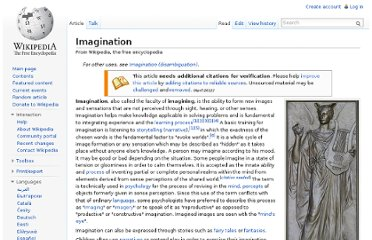 http://en.wikipedia.org/wiki/Imagination
