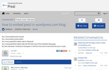 http://community.prezi.com/prezi/topics/how_to_embed_prezi_in_wordpress_com_blog