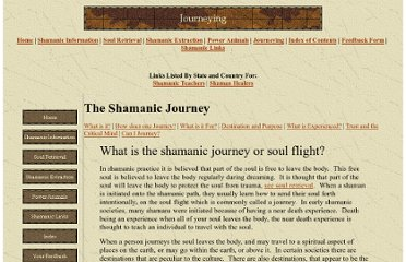 http://www.shamanlinks.net/Journey.htm