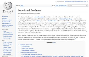 http://en.wikipedia.org/wiki/Functional_fixedness
