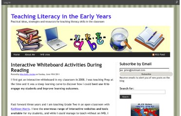 http://teachingliteracy.global2.vic.edu.au/2011/06/19/interactive-whiteboard-activities-during-reading/