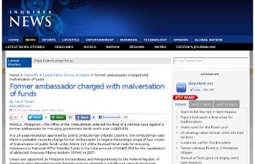 http://newsinfo.inquirer.net/16531/former-ambassador-charged-with-malversation-of-funds