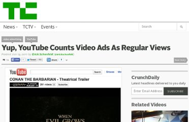 http://techcrunch.com/2011/06/19/youtube-counts-video-ads-regular-views/