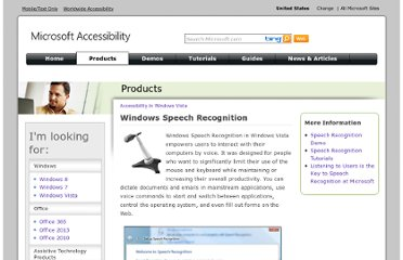 http://www.microsoft.com/enable/products/windowsvista/speech.aspx