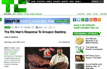 http://techcrunch.com/2011/06/18/ribman-groupon-bashing/