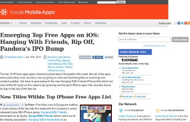 http://www.insidemobileapps.com/2011/06/15/emerging-top-free-apps-on-ios-hanging-with-friends-simple-games-updated-games-grow/