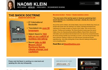 http://www.naomiklein.org/articles/2009/08/clarification-shock-doctrine-documentary