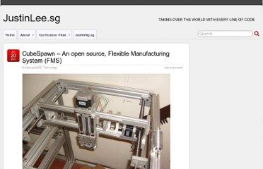 http://justinlee.sg/2011/06/20/cubespawn-an-open-source-flexible-manufacturing-system-fms/