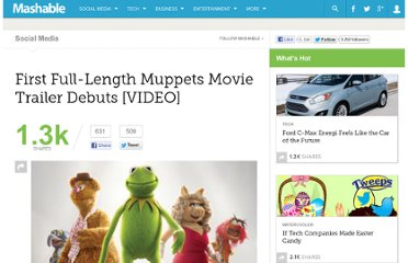 http://mashable.com/2011/06/20/the-muppets-movie-trailer/