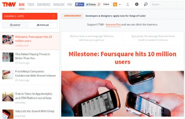 http://thenextweb.com/apps/2011/06/20/milestone-foursquare-hits-10-million-users/