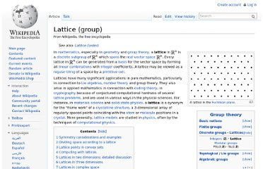 http://en.wikipedia.org/wiki/Lattice_(group)