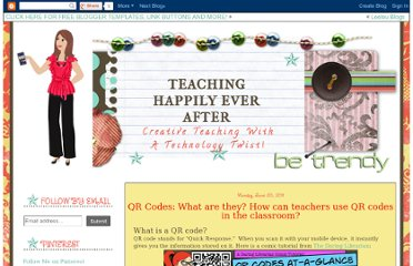 http://teachinghappilyeverafter.blogspot.com/2011/06/qr-codes-what-are-they-how-can-teachers.html