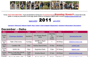 http://runningroomhawaii.com/races/2011.html#top