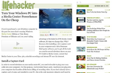 http://lifehacker.com/298408/turn-your-windows-pc-into-a-media-center-powerhouse-on-the-cheap