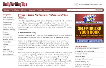 http://www.dailywritingtips.com/3-types-of-essays-are-models-for-professional-writing-forms/