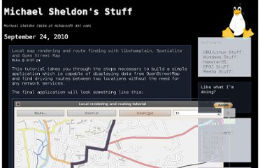 http://blog.mikeasoft.com/2010/09/24/local-map-rendering-and-route-finding-with-libchamplain-spatialite-and-open-street-map/