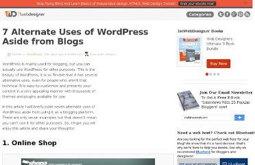 http://www.1stwebdesigner.com/wordpress/seven-uses-of-wordpress/